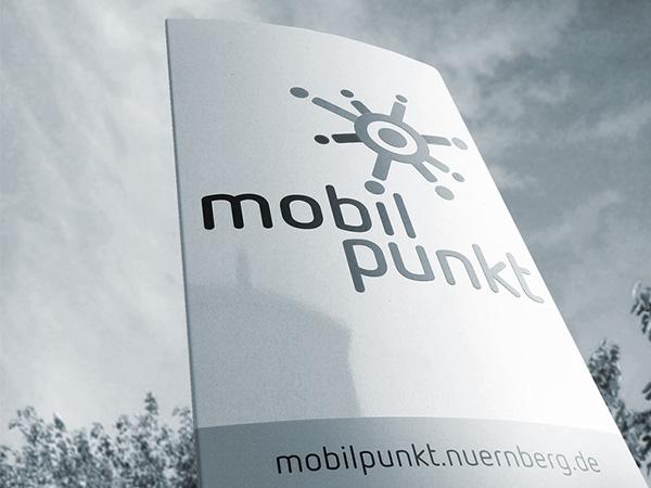 Logo- und Stelendesign für mobilpunkt